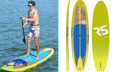 Key Lime Shoreline Stand Up Paddle Board. RAVE Sports New Board w/ New Wood Toned SUP. and lightweight at 27 lbs. Key Lime, Paddle Boarding, Sports News, Stand Up, Surfboard, Rave, Wood, Raves, Get Back Up