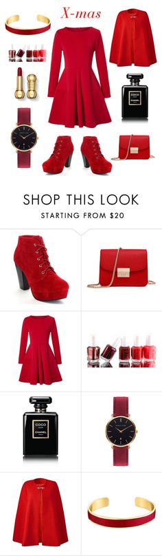 """""""Christmaaaaas"""" by lea-bdlt on Polyvore featuring WithChic, Essie, Chanel, Abbott Lyon and VANINA"""