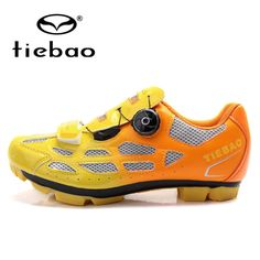 TIEBAO Professional MTB Mountain Bike Shoes Breathable Bicycle Cycling Shoes Fast Tuning Knob Laces Sport Shoes for Men Women