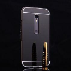 For Motorola Moto G3 G 3rd Gen Ultra Slim Bling Metal Aluminum Alloy Frame Mirror Acrylic Plastic Back Cover Case For Luxury Hot