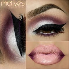 Neutral and plum eyeshadow shades are used for this smokey eye look. Wear it with ombre lips for a dramatic look for night out. DIY with these products here.