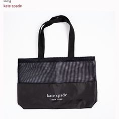 """New, never used Kate Spade New York Black half-mesh reusable shopping tote bag. (Please note there are no tags as this was a bonus item) Please see photos for details! Also be sure to check out our other Kate Spade bags for sale! Bag is 23.5"""" wide x 15.25"""" tall. Kate Spade Totes, Kate Spade Tote Bag, Bag Sale, Gym Bag, Reusable Tote Bags, Mesh, York, Tags, Shopping"""
