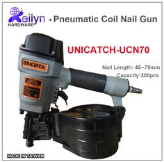 268.89$  Buy here - http://alih7k.worldwells.pw/go.php?t=2046574140 - UNICATCH UNC275X (CN70) Industrial Pneumatic Coil Nail Gun Air Coil Nailer Air Nailer made in Taiwan, High quanlity standard