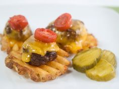 Game Day Burger-Potato Bites