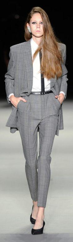 #FASHION #WORK #STYLE | Masculine Style | Grey Suit | Saint Laurent 2014