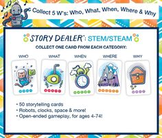Story Dealer by Bennett Innovations Speech Therapy Games, Card Games For Kids, Question Game, Co Design, Story Prompts, Diy Games, Help Teaching, School S, Creative Thinking