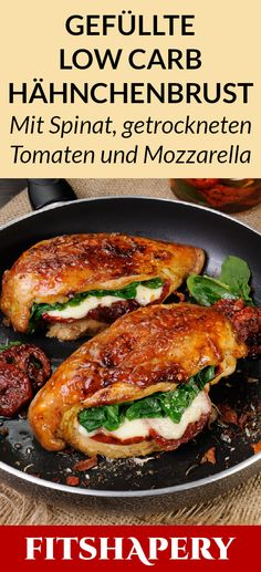 Diese gefüllte Hähnchenbrust ist Low Carb und reich an Eiweiß. Dadurch eignet… This stuffed chicken breast is low carb and high in protein. This makes it perfect for losing weight or for a low carbohydrate diet. Here you will find… Continue Reading → Low Carb Keto, Low Carb Recipes, Diet Recipes, Chicken Recipes, Healthy Recipes, Cheese Stuffed Chicken, Low Carbohydrate Diet, No Carb Diets, Food Inspiration