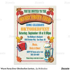 One Happy Oktoberfest Party Invitation Cards Discounted To 99