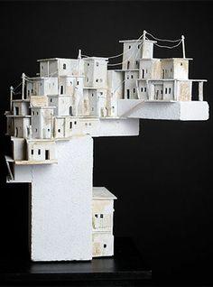 Wim Jonker Clay Houses, Ceramic Houses, Paper Houses, Miniature Houses, Cardboard City, Architectural Sculpture, Favelas, Driftwood Art, Art Club