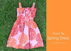 GRACIAS A: Ashley  de MAKE IT AND LOVE IT   FUENTE: http://www.makeit-loveit.com/2011/05/front-tie-spring-dress-great-for-all.html#more   ...