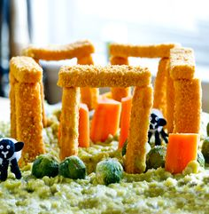 Fish Finger Stonehenge - In homage to the Summer Solstice, we thought it would be fun to create a fish finger Stonehenge... AND IT WAS!. Want to make it for yourself then visit: http://www.fishisthedish.co.uk/recipes/greatforkids/1975-fish-finger-stonehenge