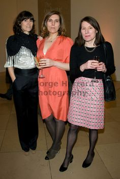 Bella Freud, Esther Freud and Anna Freud attend the Lucian Freud Portraits exhibition at the National Portrait Gallery February 2012  London   Photo credit Jorge Herrera.