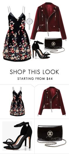 """Untitled #351"" by alexis1501 on Polyvore featuring The 2nd Skin Co., Boohoo, Chanel and DKNY"