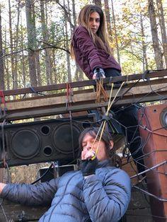 Walking Dead Cast, Walking Dead Tv Series, Walking Dead Season, Fear The Walking Dead, Daryl Twd, Daryl Dixon, Nadia Hilker, Katelyn Nacon, Twd Memes