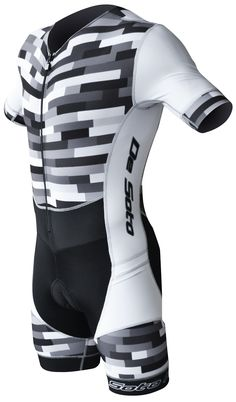 De Soto Men's Sleeved Riviera Trisuit with 7mm Ceramico Pad