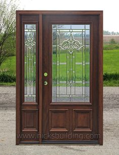 Beautiful Entry Doors with One Sidelite