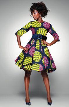 vlisco african dresses   Vlisco :: Delicate Shades dress