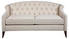 "Coco 72"" Tufted Sofa, Cream 