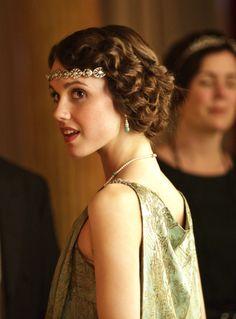 """""""The London Season"""" Downton Abbey Series 4 Christmas Special (2013)- Poppy Drayton as Madeleine Allsopp."""