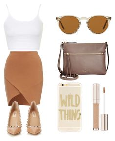 """Untitled #117"" by cristhina-a-dieguez-c ❤ liked on Polyvore featuring Topshop, Valentino, Sonix, Kate Spade and Oliver Peoples"