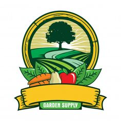 Find Garden Logo stock images in HD and millions of other royalty-free stock photos, illustrations and vectors in the Shutterstock collection. Fruit Logo, Farm Logo, Green Logo, Logo Design Inspiration, Signs, Branding Design, Company Logo, Illustration, Vector Freepik