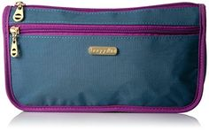 Best Makeup Bag | Baggallini Fiji Large Wedge Case Slate Blue * Check out the image by visiting the link.(It is Amazon affiliate link) #sky Best Makeup Brushes, Makeup Brush Set, Best Makeup Products, Best Foundation Makeup, Makeup Kit Essentials, Best Teeth Whitening Kit, Cat Eye Makeup, Blue Check, Signature Logo