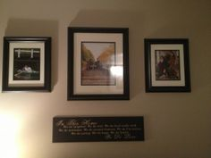 11x14 s and a framed 16x20 over couch sofa wall displays for