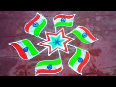 Sowmya's Lifestyle - YouTube Republic Day, Simple Rangoli, Independence Day, Flag, Dots, Lifestyle, Youtube, Stitches, Diwali