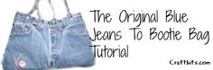 Have a jeans big enough to make this bag with? :) http://www.craftbits.com/project/blue-jeans-denim-bootie-bag-purse