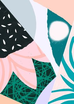 'Ambience' www.tomabbisssmithart.com #contemporary #abstract #surface #pattern #design #collage #illustration