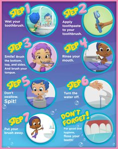 Smile! The Bubble Guppies can teach kids how to keep their teeth clean and healthy with this printable poster.