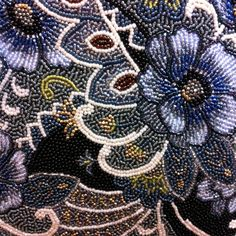 Glass bead embroidery-not sure I have the patience for this but it is lovely!