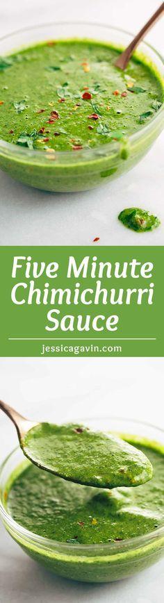 five minute chimichurri sauce five minute chimichurri sauce recipe the ...