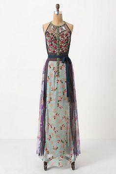 Wilderflora Patchwork Maxi Dress - Anthropologie.com