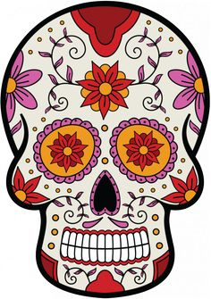Sticker Calavera - Tete De Mort Mexicaine 7 - ref.d7445 | MPA Déco Mexico Day Of The Dead, Day Of The Dead Skull, Sugar Scull, Sugar Skull Art, Crane, Skulls And Roses, Mexican Skulls, Cat Stickers, Rock Art