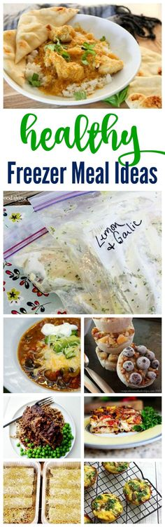 Healthy freezer meal ideas! Start the new year with Freezer Cooking! Save time and money by preparing your meals ahead of time and having quick meal options for families on the go!