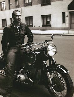Oliver Sacks on a motorcycle in 1961...my stars. Hot-cha.