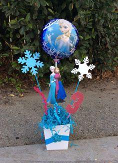Disney congelado princesas Elsa y centro de mesa cumpleaños de