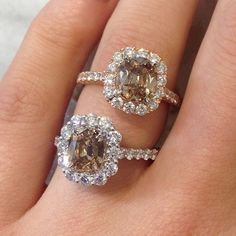 Satisfy your sweet tooth with Henri Daussi chocolate diamond engagement rings! Available at TWO by LONDON