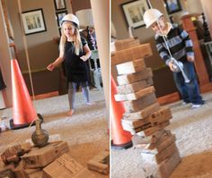 construction party theme | So for his fourth birthday, we went that theme. He received a GIANT ...