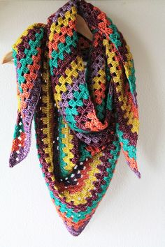 """""""The Granny shawl is one of the easiest shawls you have ever made! The pattern is easy to memorize and within hours you have a comfortable and big shawl. """""""