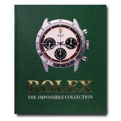 Rolex: The Impossible Collection book by Fabienne Reybaud Paul Newman, James Bond, Bracelet Rolex, Service Secret, George Lazenby, Marine Chronometer, Luxury Watch Brands, Assouline, Metal Plaque