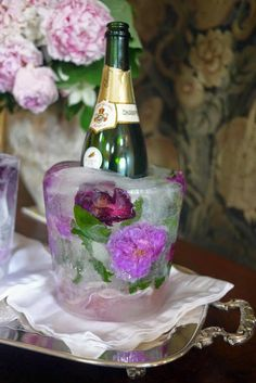 Edible Flowers Ideas In 2020 Edible Flowers Ideas In 2020 Floral Ice Bucket and Edible Flower Ice Cubes Summer