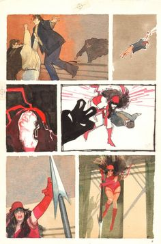 original page by Bill Sienkiewicz from issues... - The Bristol Board