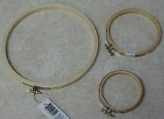 """Wooden Embroidery Hoop 7""""/18cm Wooden Embroidery Hoops, Beaded Embroidery, Quilting Hoops, Cross Stitch Needles, Beading Needles, Large Tote, Needlework, Gold, Accessories"""