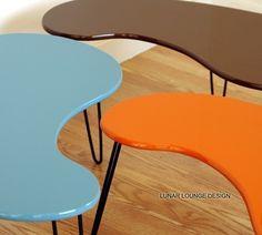 Kidney Bean Coffee Table  Mid century Modern design  Eames Era Atomic on Etsy, $225.00