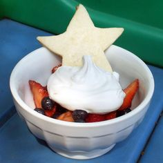 Red, White and Blueberries with Shortbread Stars   18 Berry Recipes for Dessert   Food   Disney Family.com