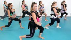 Exercícios com bebês: treinando com o sling