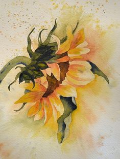 Art, Fine Art Print of Yellow Sunflower- Reproduction of Watercolor Painting on Etsy, $18.00