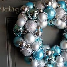 Blue And Silver Christmas Winter Wreath Tutorial By Just Between Friends